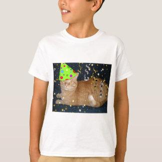 Birthday Party Orange Tabby Cat T-Shirt