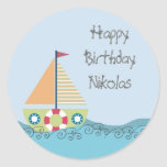 Birthday Party Personalized Label Sticker