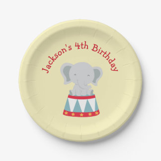 Birthday Party Plates- Circus Theme Paper Plate