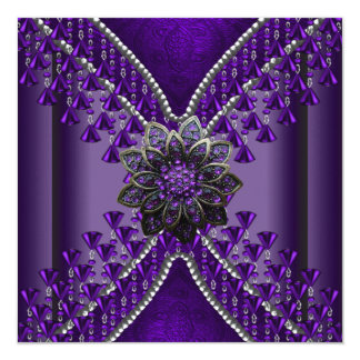 Birthday Party Purple Beads Card