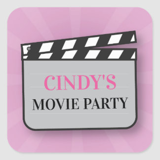 Birthday Party Stickers Movie Film Cinema Night