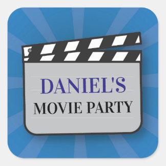 Birthday Party Stickers Movie Film Clapper Night