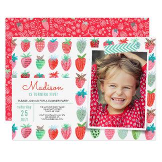 Birthday Party   Strawberry spring   Invitations