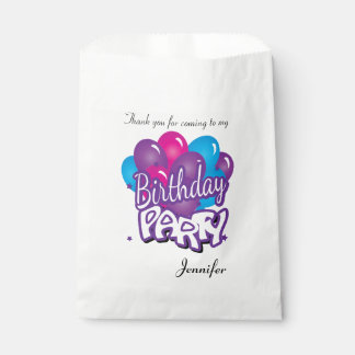 Birthday Party Thank You | Purple Favour Bag