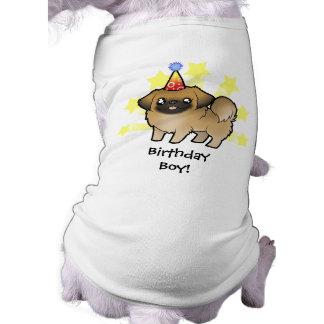 Birthday Pekingese (puppy cut) Pet Tshirt