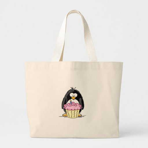 Birthday Penguin with Cupcake Bag