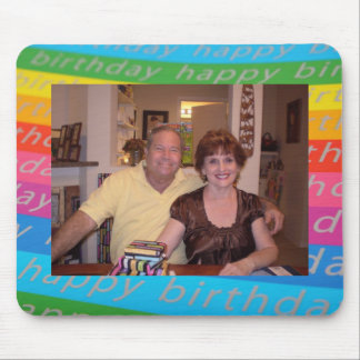 Birthday Photo Template Mouse Pad