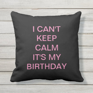 birthday pillow