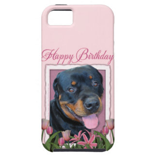 Birthday - Pink Tulips - Rottweiler - Harley iPhone 5 Cover