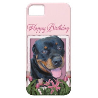 Birthday - Pink Tulips - Rottweiler - Harley Case For The iPhone 5
