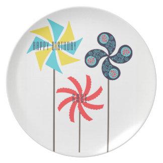 Birthday Pinwheel Carnival Plate {Personalized}
