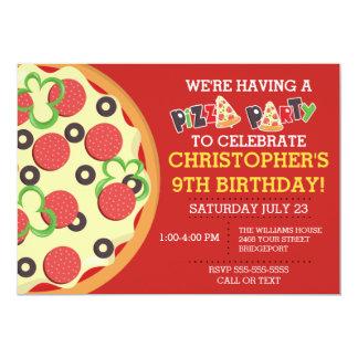 Birthday Pizza Party Invite