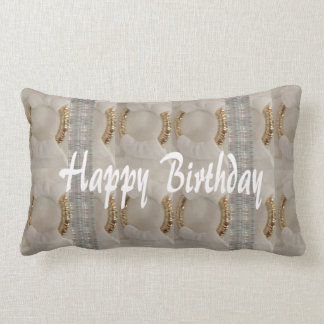 "BIRTHDAY Polyester Throw Pillow 16"" x 16"" Accent"