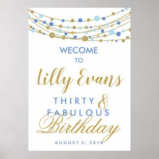 Birthday poster,  Adult birthday, Big birthday Poster