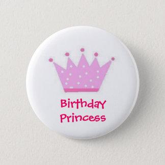 Birthday princee (Polka Dot) 2 Inch Round Button