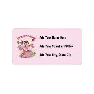 Birthday Princess I'm Two T-shirts and Gifts Custom Address Label