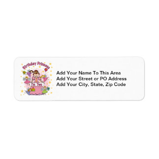 Birthday Princess I'm Two T-shirts and Gifts Return Address Label