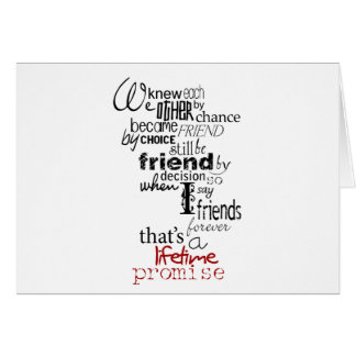 BIRTHDAY PROMISE TO MY BEST FRIEND-THAT IS FOREVER CARD