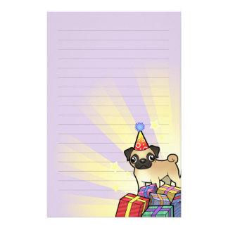 Birthday Pug Customized Stationery