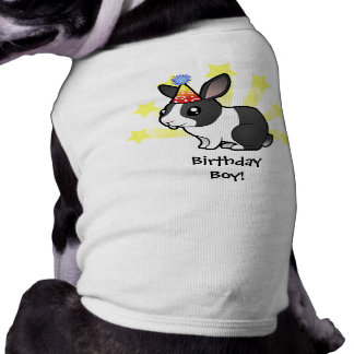 Birthday Rabbit (uppy ear smooth hair) Doggie T-shirt