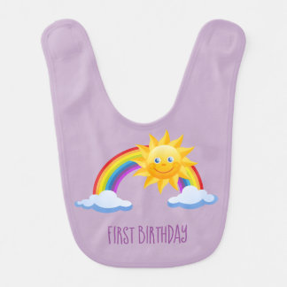 Birthday Rainbow Bib