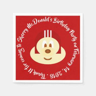Birthday - Red Helmet 鮑 鮑 Napkin Paper Napkin