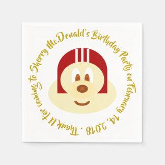 Birthday - Red Helmet 鮑 鮑 Paper Napkin