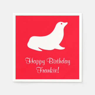 Birthday Red Seal 4Frankie (Name) Disposable Napkin