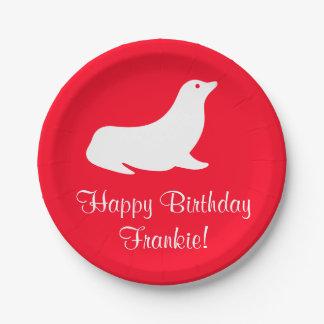 Birthday Red Seal 4U Paper Plate