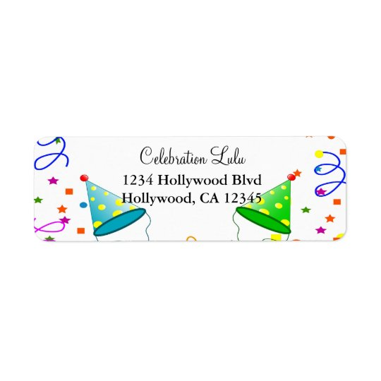 Birthday Return Address Label