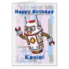 Birthday Robot Card
