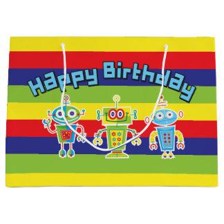 Birthday Robots Large Gift Bag