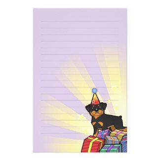 Birthday Rottweiler Stationery Design