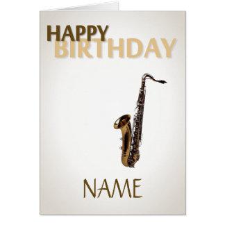 Birthday Sax Card