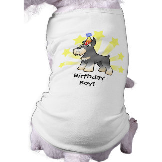Birthday Schnauzer Pet Tshirt