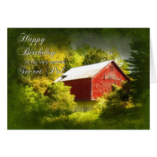 Birthday - Secret Pal - Barn Greeting Card