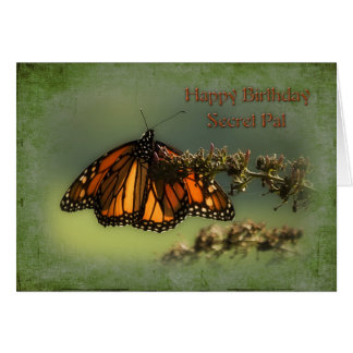 Birthday - Secret Pal - Butterfly Greeting Card