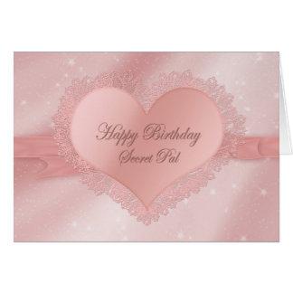 Birthday, Secret Pal - Dainty Delicate Heart, Lace Card