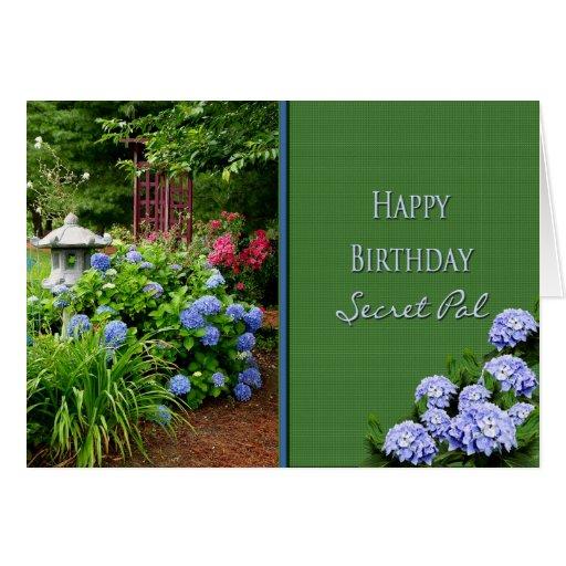 BIRTHDAY - SECRET PAL - GARDEN CARD