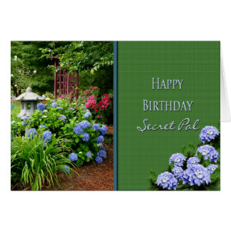 BIRTHDAY - SECRET PAL - GARDEN GREETING CARD