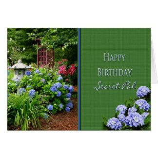 BIRTHDAY - SECRET PAL - GARDEN GREETING CARD