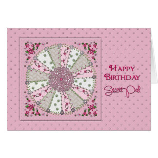 BIRTHDAY - SECRET PAL - PRETTY IN PINK GREETING CARD