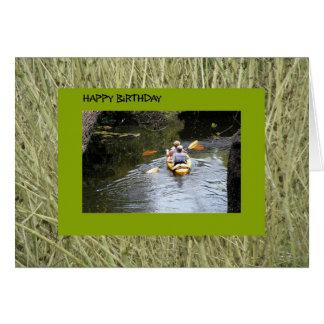 Birthday,Senior Kayakers Card