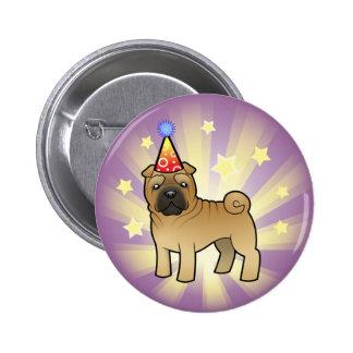 Birthday Shar Pei 2 Inch Round Button