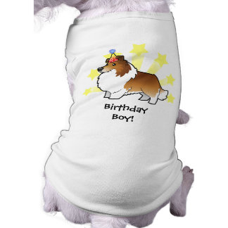 Birthday Shetland Sheepdog / Collie Pet Tee Shirt