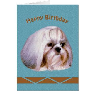 Birthday, Shih Tzu Dog Card