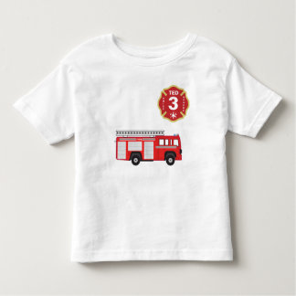 Birthday Shirt - Fire Engine