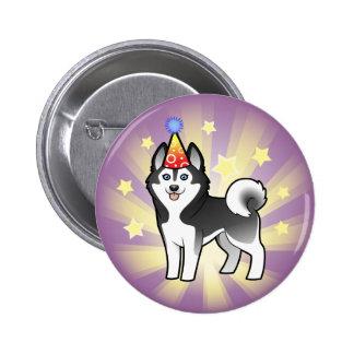 Birthday Siberian Husky / Alaskan Malamute 2 Inch Round Button