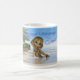Birthday Sister Cutie Pie Collection beach life Coffee Mug
