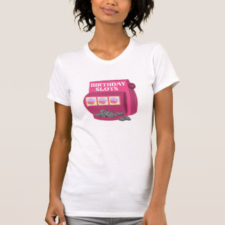 Birthday Slot Machine Custom T-Shirt